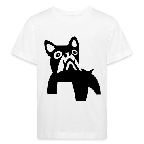 MadDog_kunst mit hund.eps - Kinder Bio-T-Shirt
