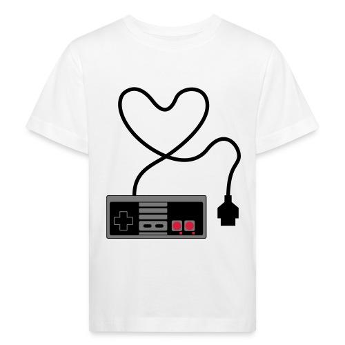 NES Controller Heart - Kids' Organic T-Shirt