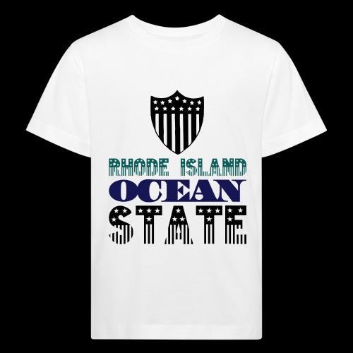 rhode island ocean state - Kids' Organic T-Shirt