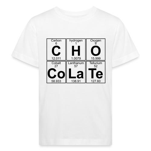 C-H-O-Co-La-Te (chocolate) - Full - Kids' Organic T-Shirt