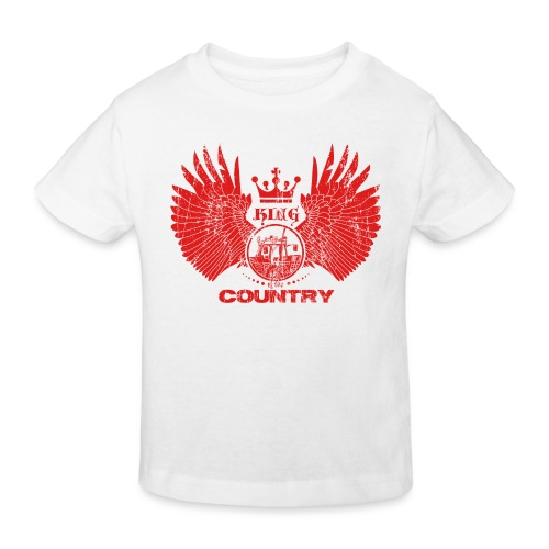 IH KING of the COUNTRY (Red design) - Kinderen Bio-T-shirt