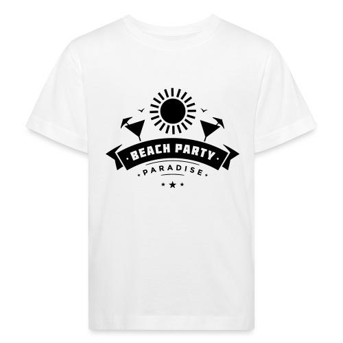 Beach party paradise - Lasten luonnonmukainen t-paita