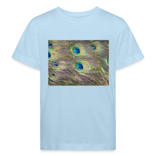 Peacock feathers - Lasten luonnonmukainen t-paita