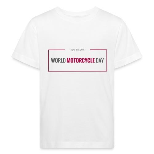 World Motorcycle Day 2016 Official T-Shirt ~ Grey - Kids' Organic T-Shirt