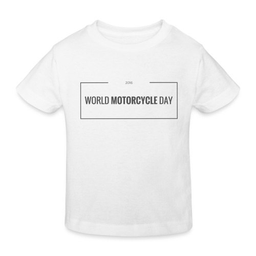World Motorcycle Day 2016 Official T-Shirt ~ White - Kids' Organic T-Shirt