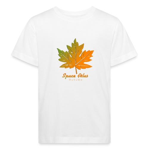 Space Atlas Long Sleeve T-shirt Autumn Leaves - Organic børne shirt