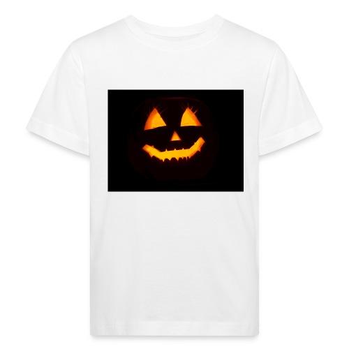 Halloween Kürbis Gesicht - Kinder Bio-T-Shirt