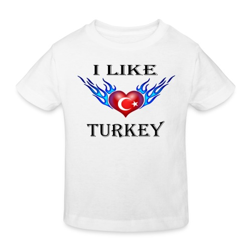 I Like Turkey - Kinder Bio-T-Shirt