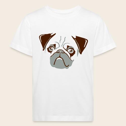 otiz mops kopf 2farbig - Kinder Bio-T-Shirt
