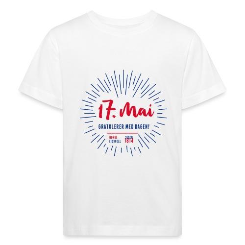 17. mai T-skjorte - Det norske plagg - Økologisk T-skjorte for barn