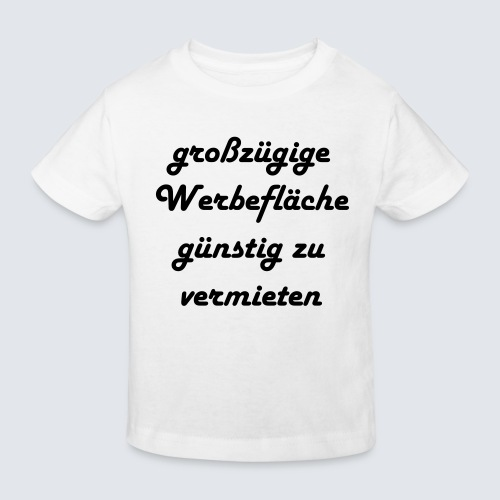 großzügige Werbefläche - Kinder Bio-T-Shirt