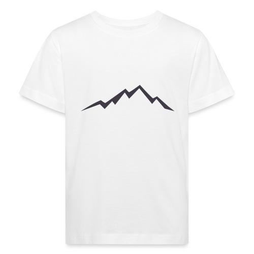 swiss alps clipart sihllouette ski mountains - Kinderen Bio-T-shirt