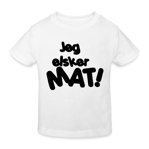Jeg elsker mat - Økologisk T-skjorte for barn