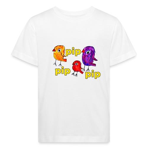 3er original pip pip pip gelb - Kinder Bio-T-Shirt