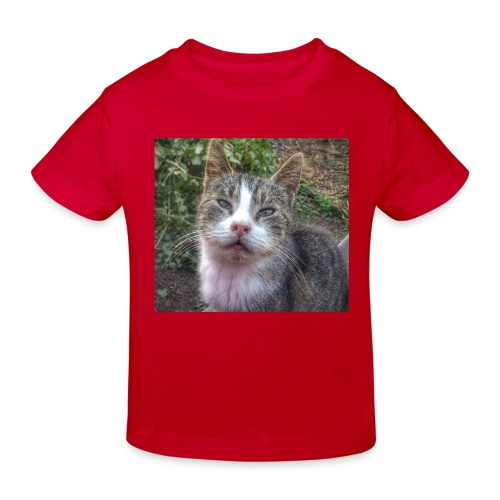 Katze Max - Kinder Bio-T-Shirt