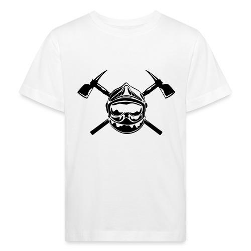 casque_pompier_2 haches - T-shirt bio Enfant