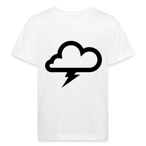 Wolke mit Blitz - Kinder Bio-T-Shirt