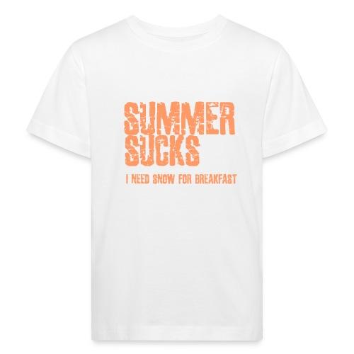 SUMMER SUCKS - Kinderen Bio-T-shirt