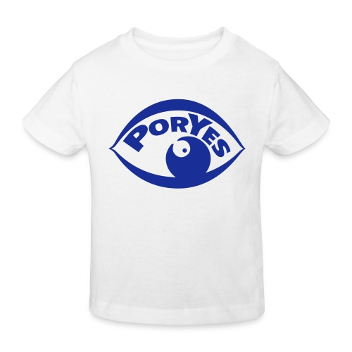 logo poryes lila - Kinder Bio-T-Shirt