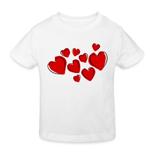 hearts herzen - Kinder Bio-T-Shirt