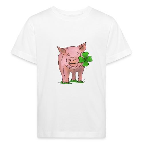 Glücksschwein - Kinder Bio-T-Shirt