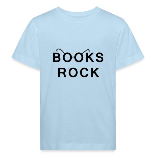 Books Rock Black - Kids' Organic T-Shirt