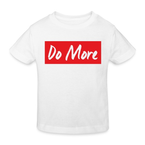 white logo color background - T-shirt bio Enfant