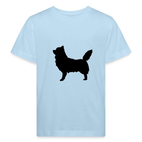 Chihuahua pitkakarva musta - Lasten luonnonmukainen t-paita