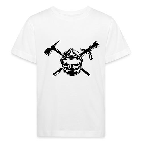 casque_pompier_hache et lance - T-shirt bio Enfant