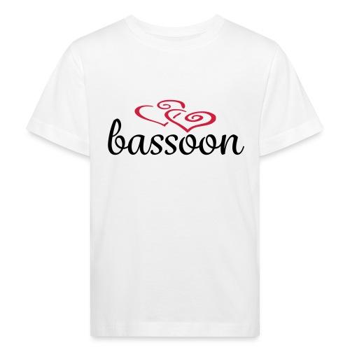 Bassoon Hearts - Kids' Organic T-Shirt