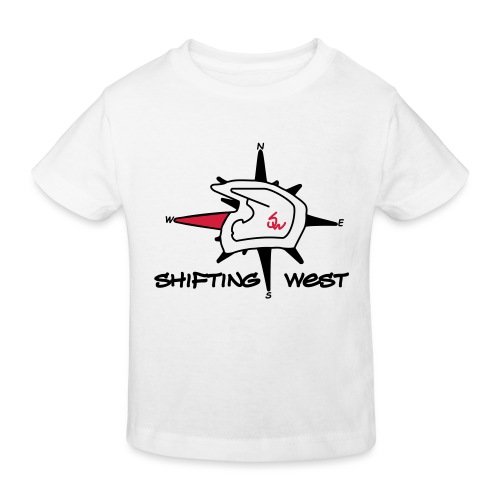 Shifting West Logo vector - Kinderen Bio-T-shirt