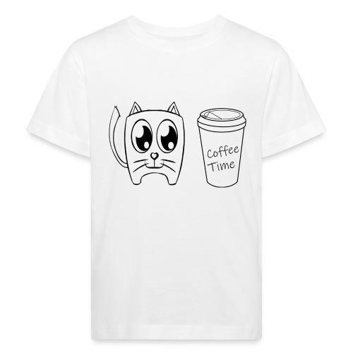 Coffee Time Cat - Kinder Bio-T-Shirt
