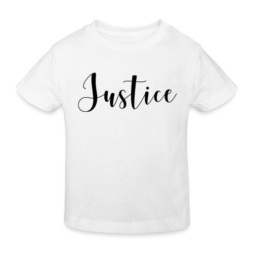07 Justice black on white - Kinder Bio-T-Shirt