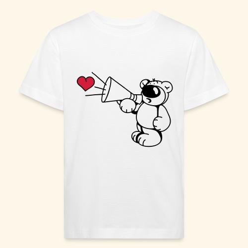 chrisbear mit Megafon - Kinder Bio-T-Shirt