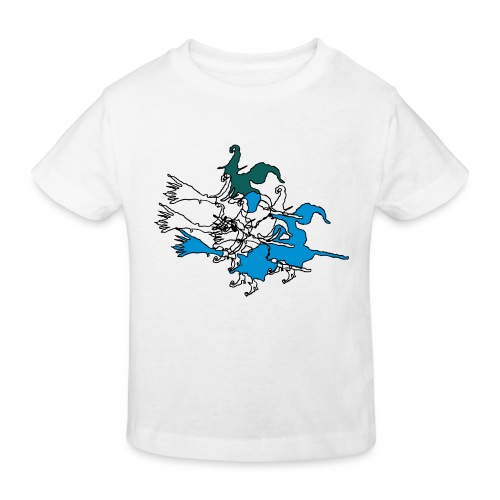Witches on broomsticks Men's T-Shirt - Kids' Organic T-Shirt
