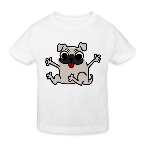 crazy pug - Kinder Bio-T-Shirt