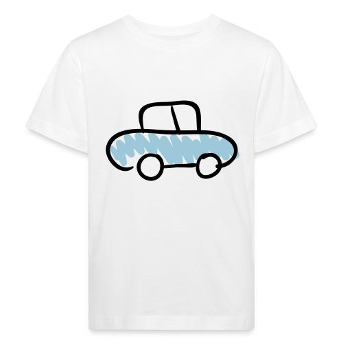 Car Line Drawing Pixellamb - Kinder Bio-T-Shirt