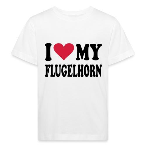 I LOVE MY FLUGELHORN - Økologisk T-skjorte for barn