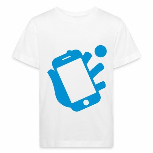 Smartphone-Tennis Logo Print - Kinder Bio-T-Shirt