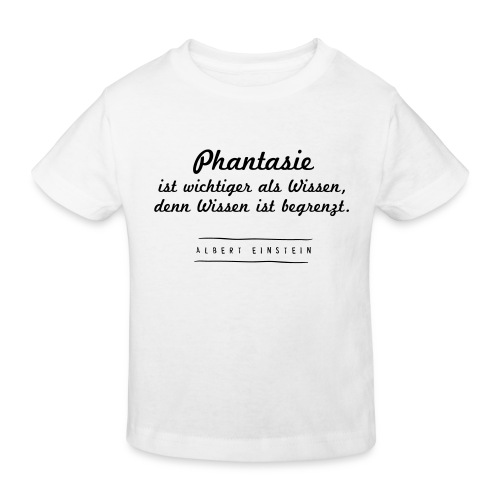 Phantasie vs. Wissen - Kinder Bio-T-Shirt
