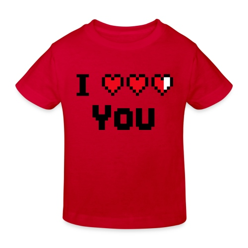 I pixelhearts you - Kinderen Bio-T-shirt