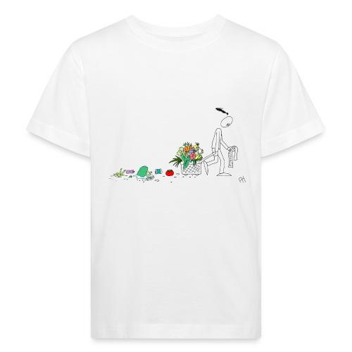 frukt og grønt handleveske - Økologisk T-skjorte for barn