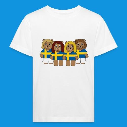 Abba Sweden Bears.png - Kids' Organic T-Shirt