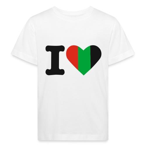 hartjeroodzwartgroen - Kinderen Bio-T-shirt