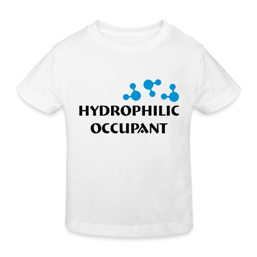 Hydrophilic Occupant (2 colour vector graphic) - Kids' Organic T-Shirt