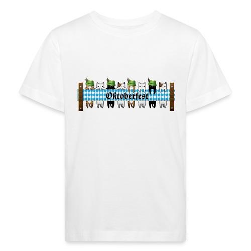 Oktoberfest Katzen - Kinder Bio-T-Shirt