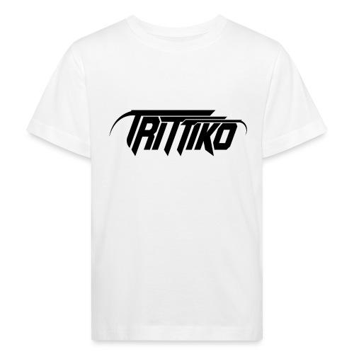 Trittiko Logo Schwarz - Kinder Bio-T-Shirt
