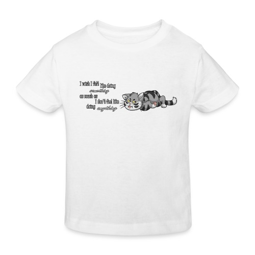 I Wish I Felt Like... (Horizontal) - Ekologiczna koszulka dziecięca