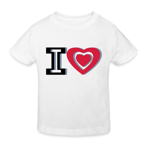 I LOVE I HEART - Kids' Organic T-Shirt