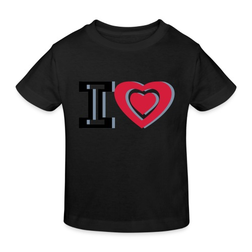 I LOVE I HEART - Kids' Organic T-Shirt
